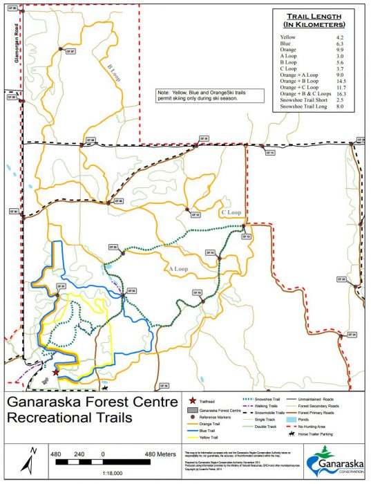 Ganaraska Winter Trail Map