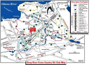 Silver Spoon ski trail map