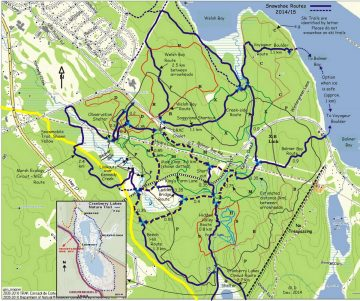 Silver Spoon snowshoe trail map