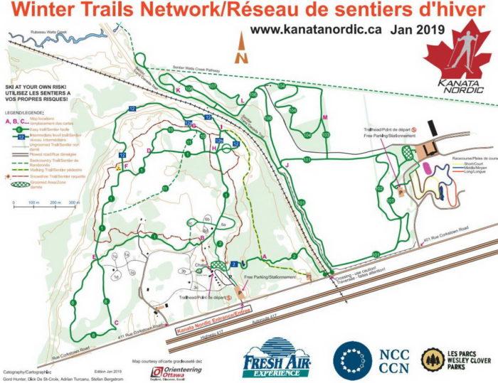 Wesley Clover ski trail map