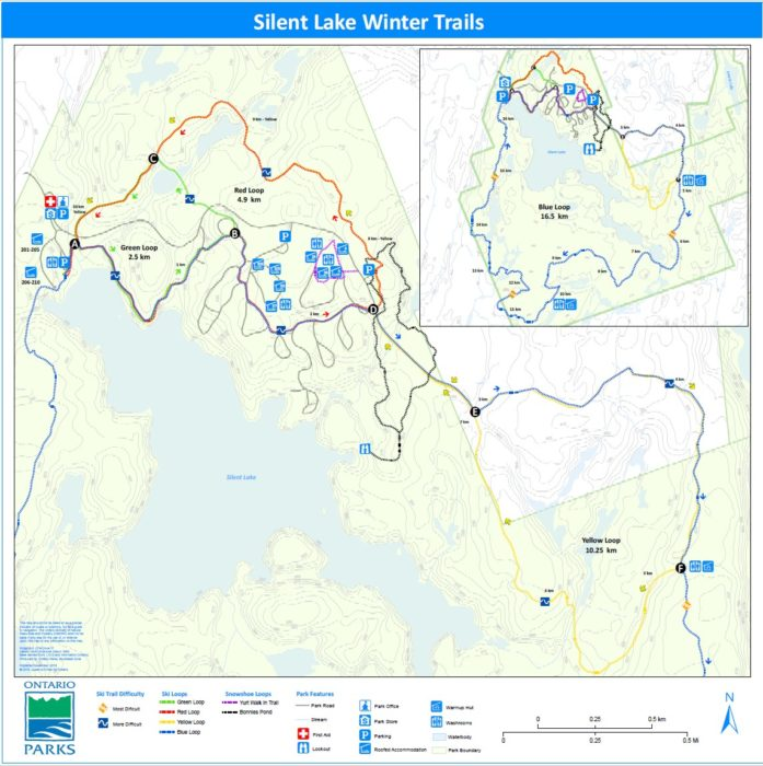 Silent Lake winter trail map