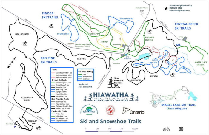 Hiawatha Nordic trail map