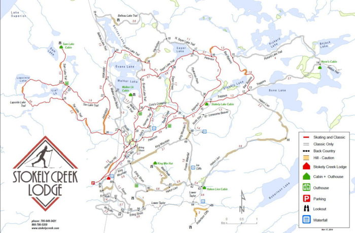 Stokely Ski Trail Map