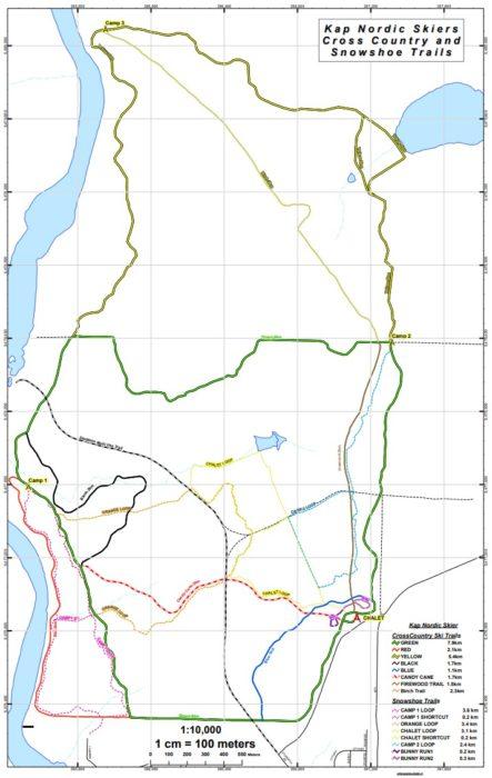 Kap Nordic ski trail map