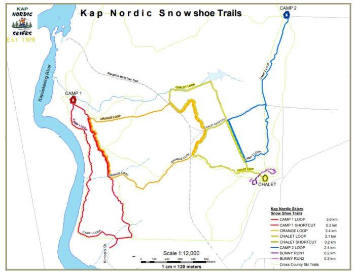 Kap Nordic Snowshoe map