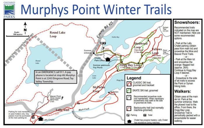 Murphys Point ski trail map