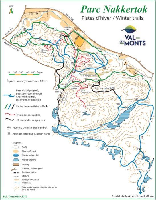 Nakkertok North ski trail map