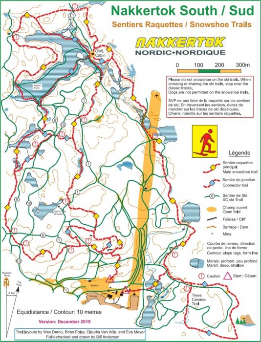Nakkertok South snowshoe trail map