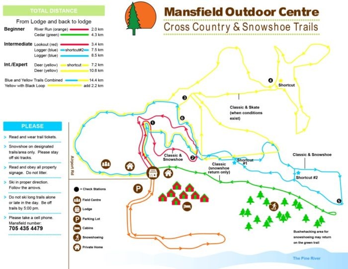 Mansfield Ski Trail Map