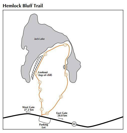 Hemlock Bluff Snowshoe trail map