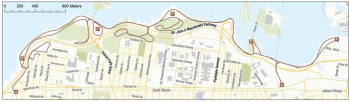 SJAM ski trail map